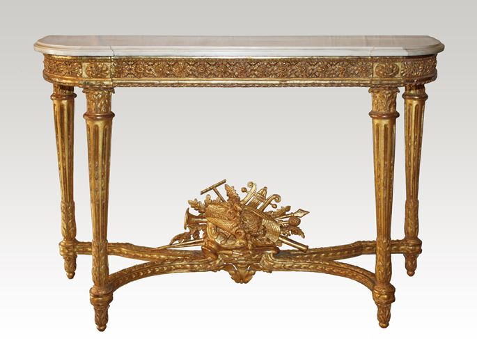 A Louis XVI giltwood Console Table attributed to Georges Jacob  | MasterArt