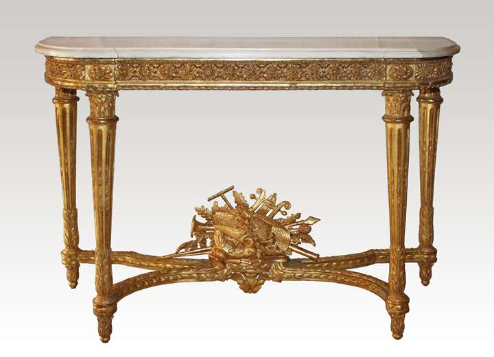A Louis XVI giltwood Console Table attributed to Georges Jacob