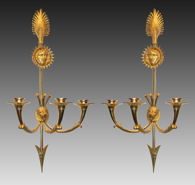 Claude Galle - A pair of Empire Wall-Lights  by Claude Galle | MasterArt