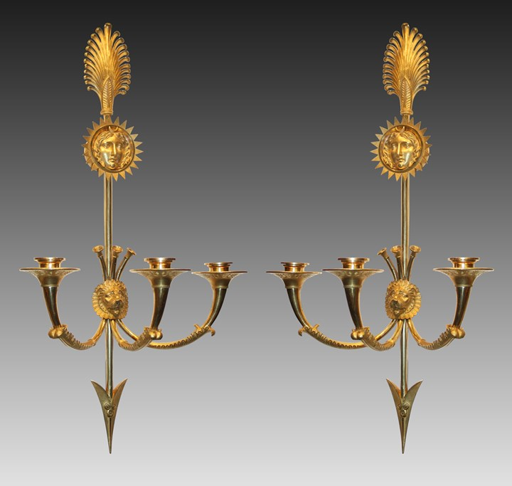 A pair of Empire Wall-Lights
