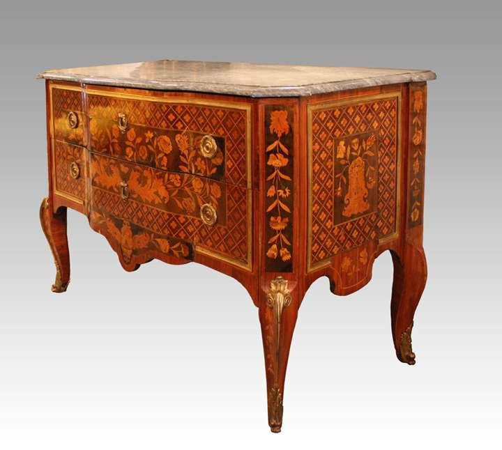 A Transitional commode stamped