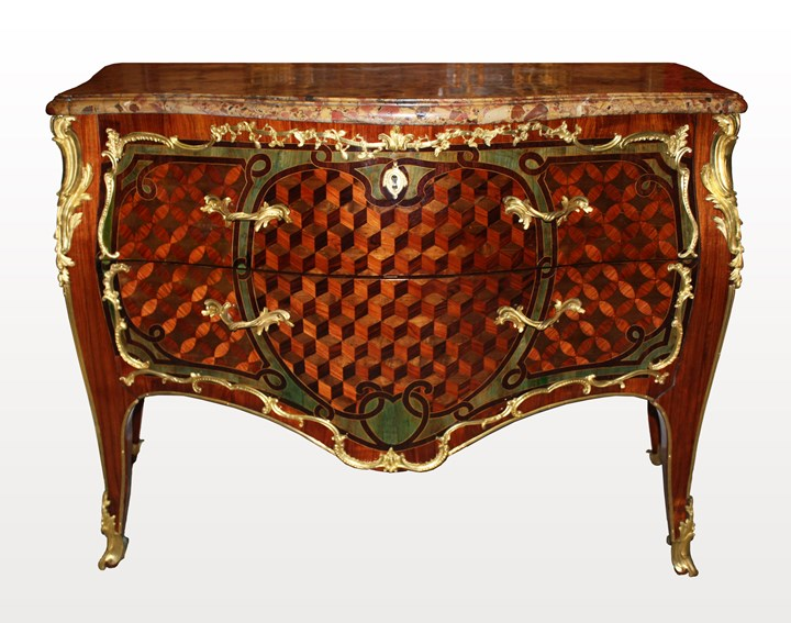 A Louis XV ormolu-mounted Commode 