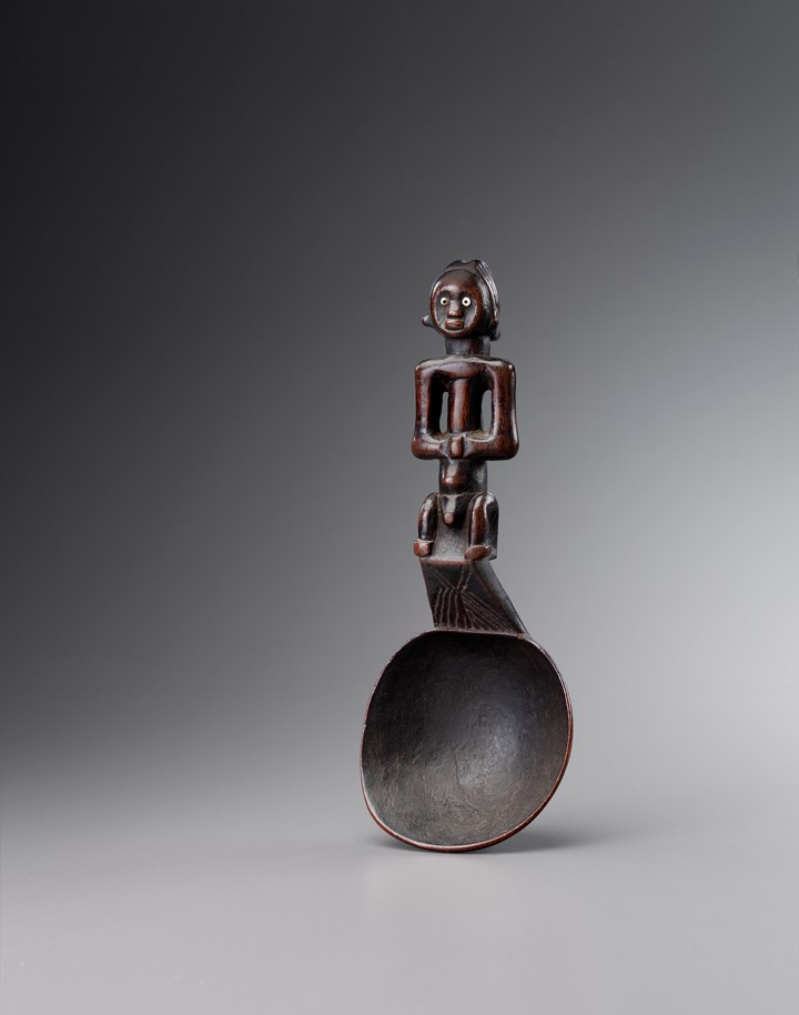 Fang spoon with figural Handle, Gabon