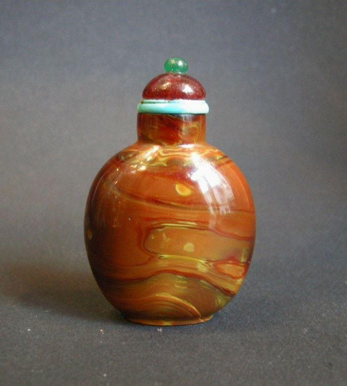 Snuff bottle imitating the realgar - Qianlong period | MasterArt