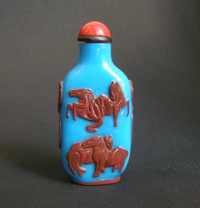 Glass Snuff bottle overlay -Yangzhou   MasterArt