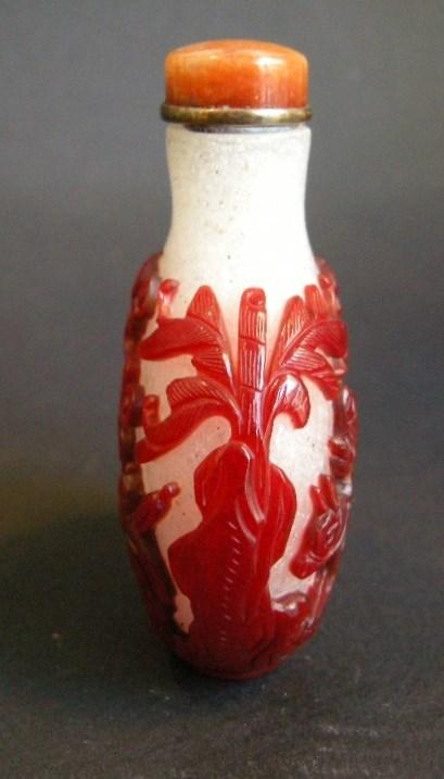Snuff bottle glass red overlay | MasterArt