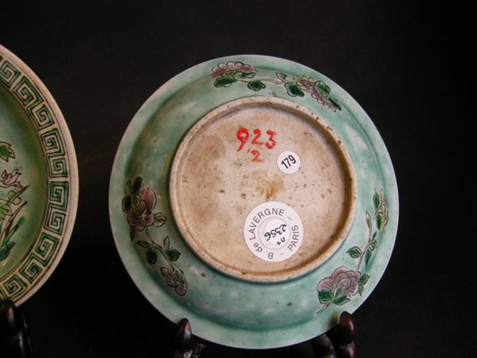 Rare pair small sweet dish in biscuit Famille Verte - Kangxi period | MasterArt