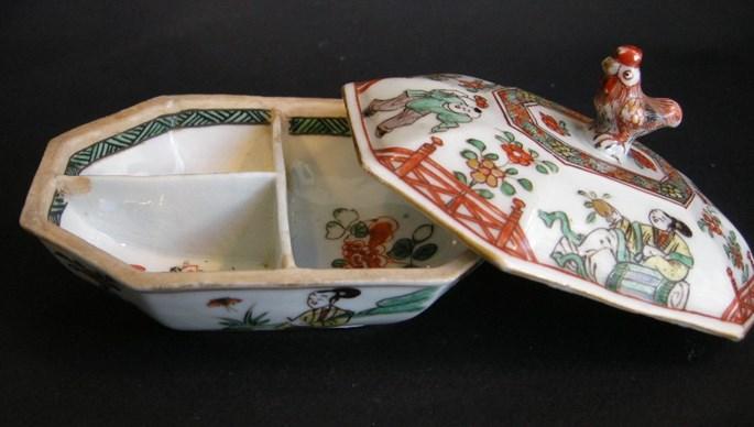 "Spice box porcelain ""famille verte""  Kangxi period   MasterArt"