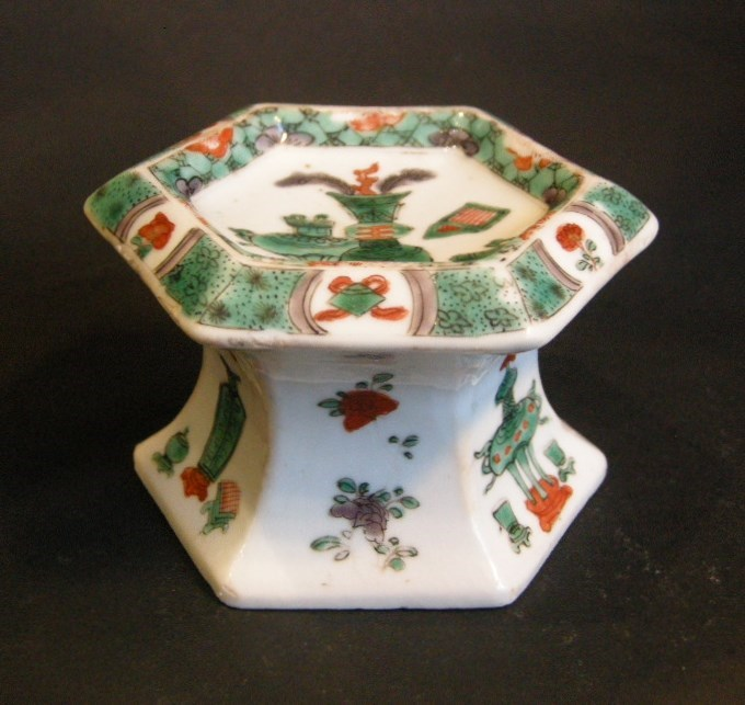 "Salt  ""famille verte"" porcelain - Kangxi period   MasterArt"