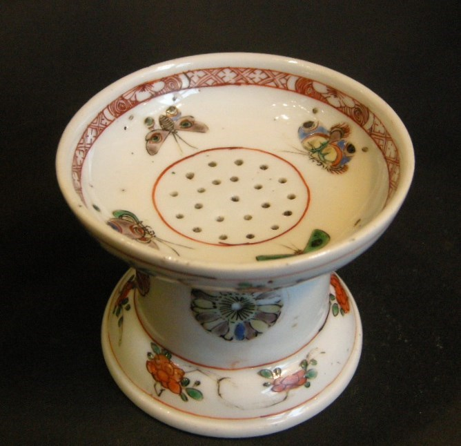 "Rare Pounce pot (Sander) ""Famille verte"" porcelain - Kangxi period | MasterArt"