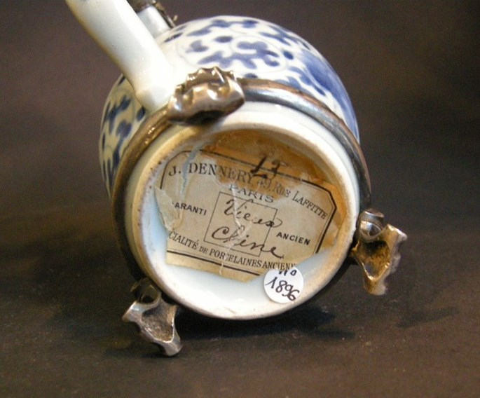 "Mustard pot porcelain ""blue and white"" 