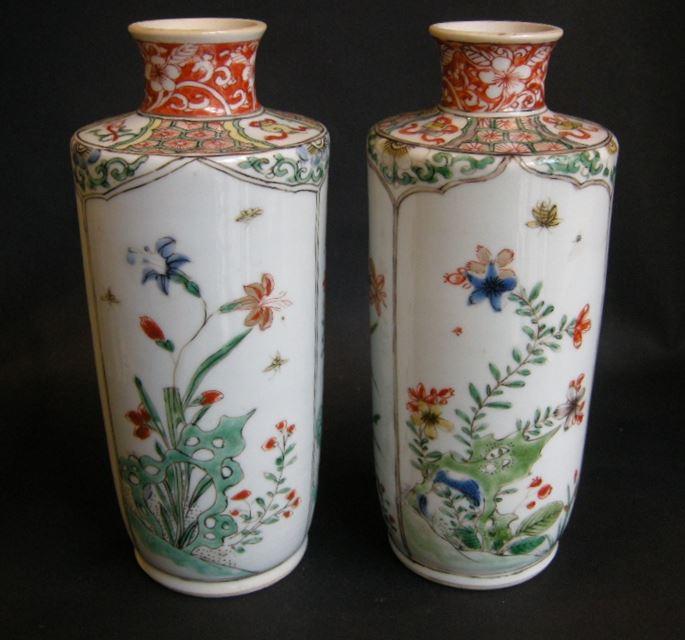 "Pair of vases ""famille verte porcelain - Kangxi period | MasterArt"