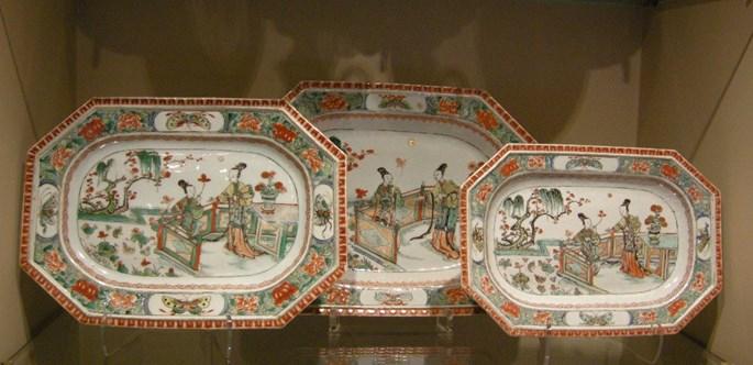 Dish famille verte porcelain - Kangxi period | MasterArt