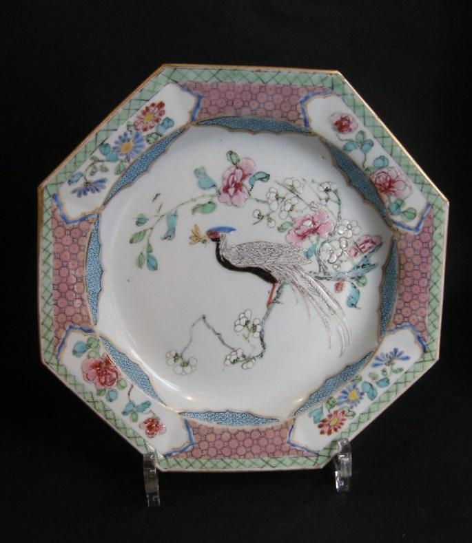 """Pair of plates """"Famille rose"""" porcelain - Yongzheng period   MasterArt"""