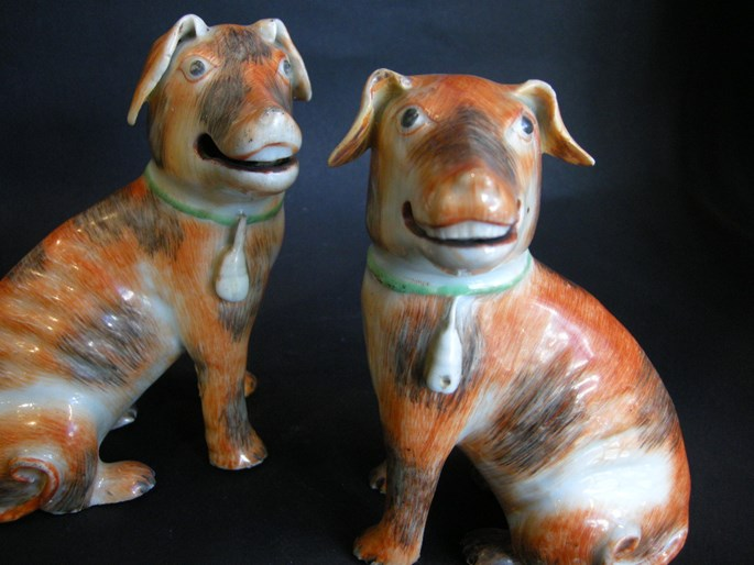Pair of European dogs chinese export - Qianlong period | MasterArt