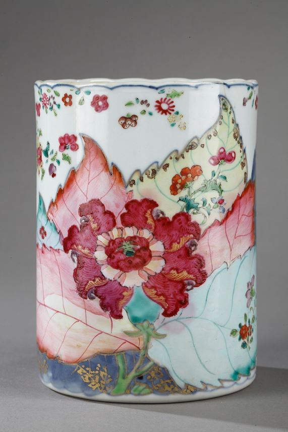 Tankard porcelain tobacco leaf decor   MasterArt