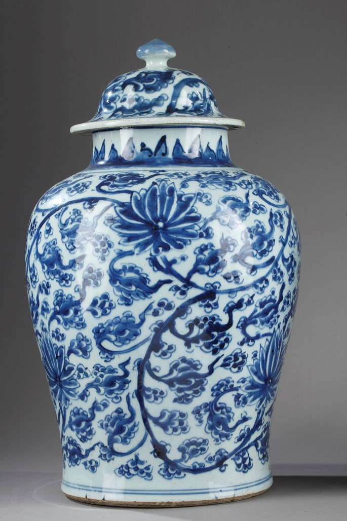 """A pair of porcelain vases """"blue and white"""" 