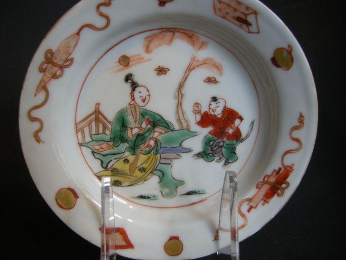 "Cup and saucer ""famille verte"" porcelain | MasterArt"