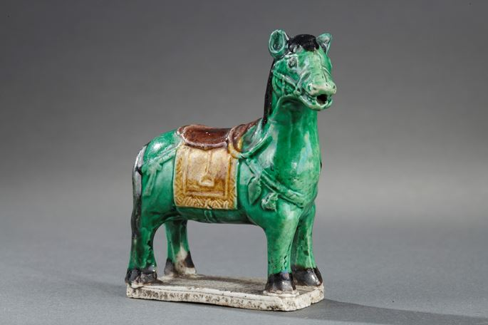 Small horse biscuit Famille verte - Water dropper for the scholar | MasterArt