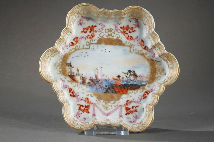 Milk pot and pattipan chinese export porcelain Meissen style | MasterArt