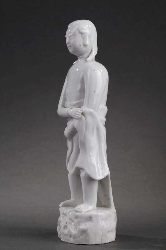 Standing figure of a man traditionally called Adam in Blanc de Chine porcelain | MasterArt