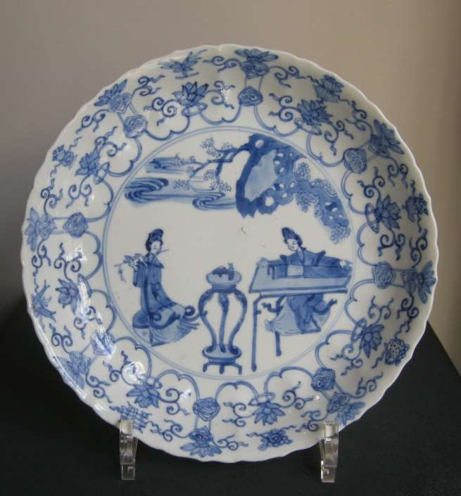 Dish blue and white porcelain