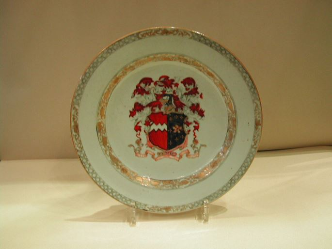 English Armorial plate -Chinese Export | MasterArt