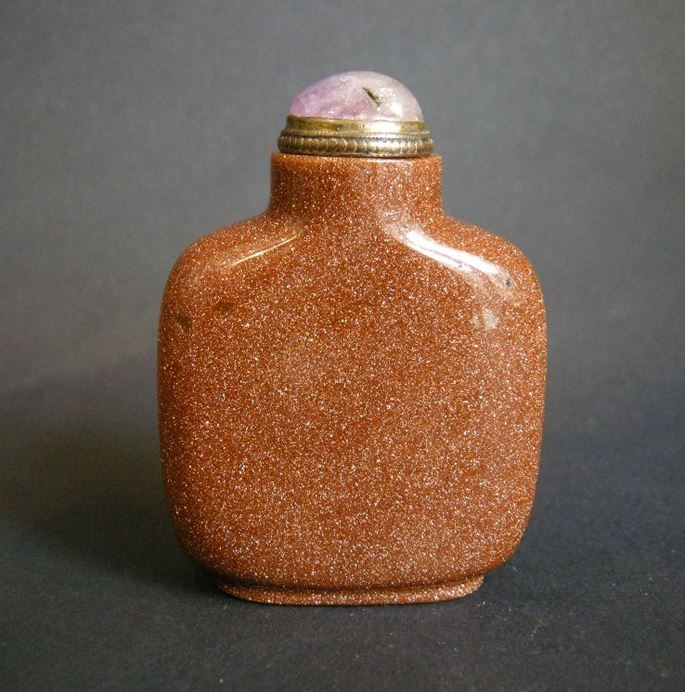 Glass Snuff Bottle imitating Aventurine stone | MasterArt