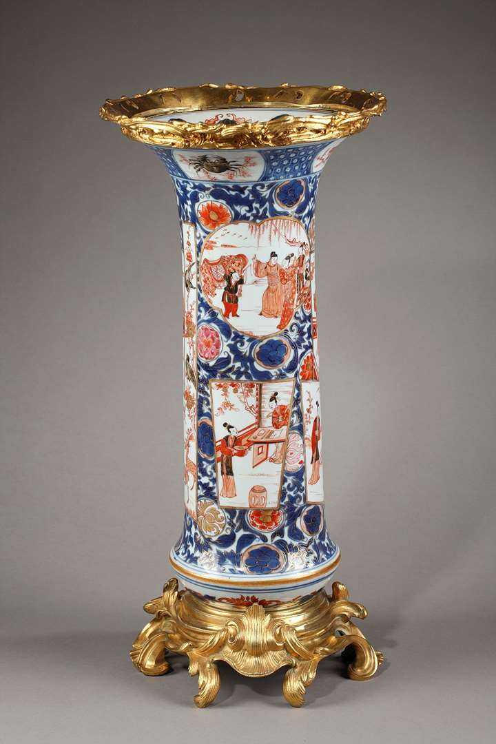 Important vase in Chinese porcelain