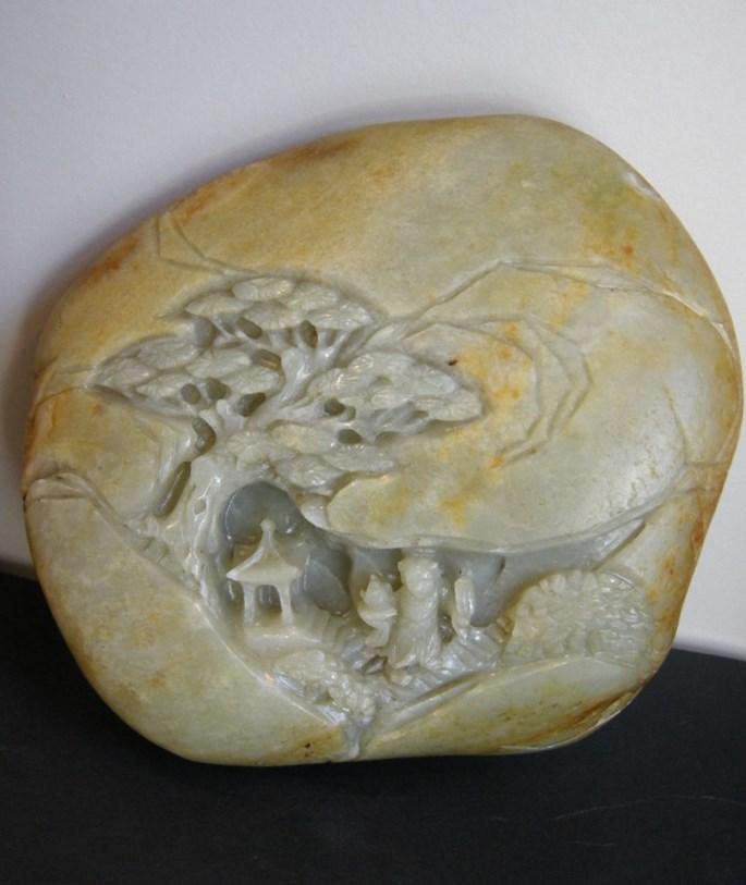 Jade boulder sculpted  - Qing period | MasterArt