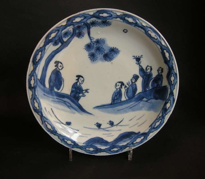 Porcelain dish blue and white - Chinese for the japan (Kosometsuke) - Tianqi period