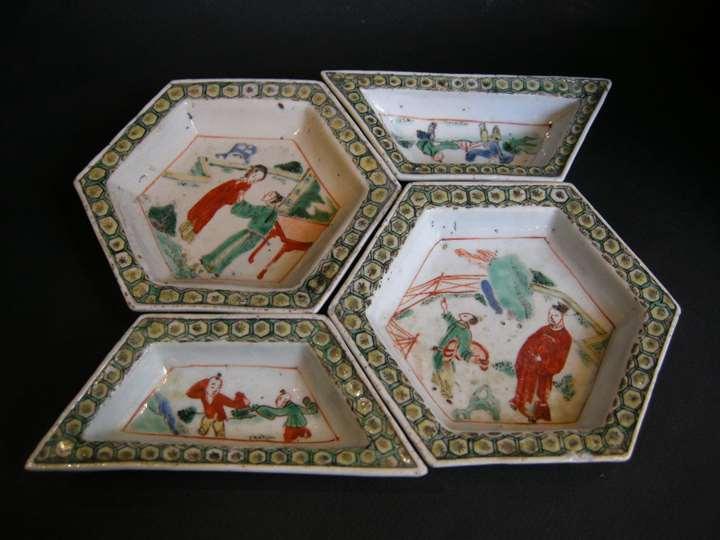 "Small sweet dish porcelain ""Famille Verte"" - Period Kangxi"