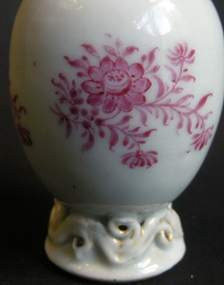 Small tea caddy porcelain famille rose | MasterArt