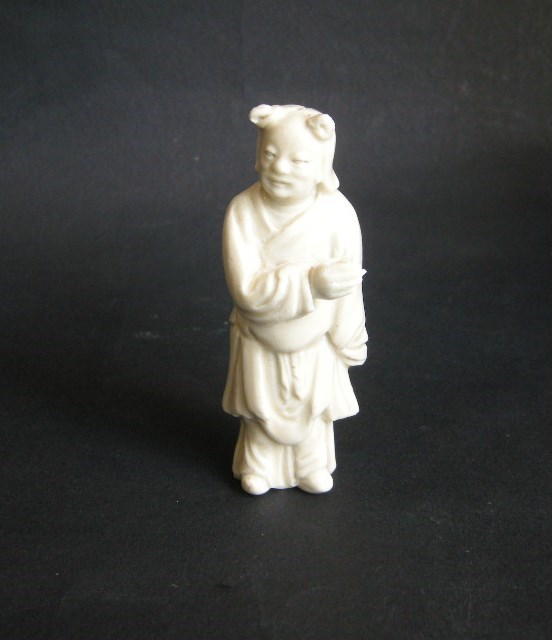 Small figure (monk) - Dehua kilns Fujian province - Kangxi period