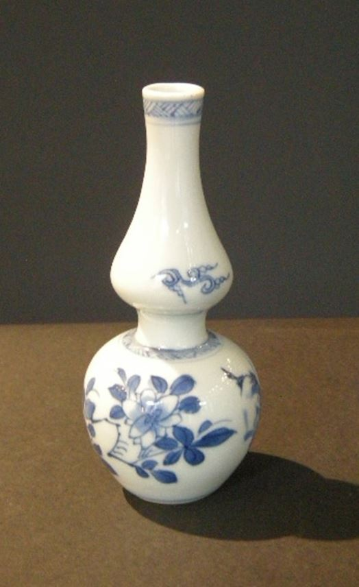 Small vase double gourd  blue and white porcelain | MasterArt