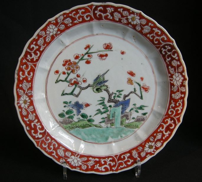 Plate  porcelain decorated in Famille verte enamels and iron red | MasterArt