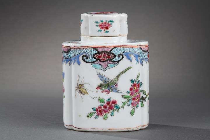 """Teapot and cover  porcelain """"famille rose"""""""
