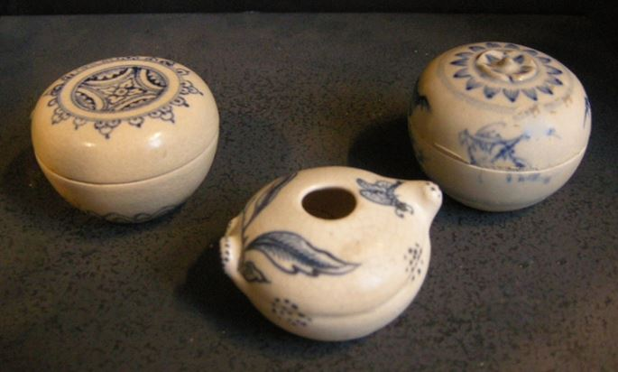 Two box and water bucket in porcelain stoneware from a shipwreck vessel | MasterArt