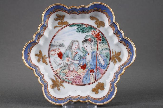 Bernard  Picart  - Pattipan Famille Rose porcelain with Europeab pattern   MasterArt