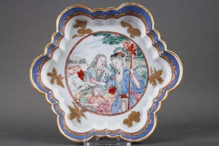 Pattipan Famille Rose porcelain with Europeab pattern
