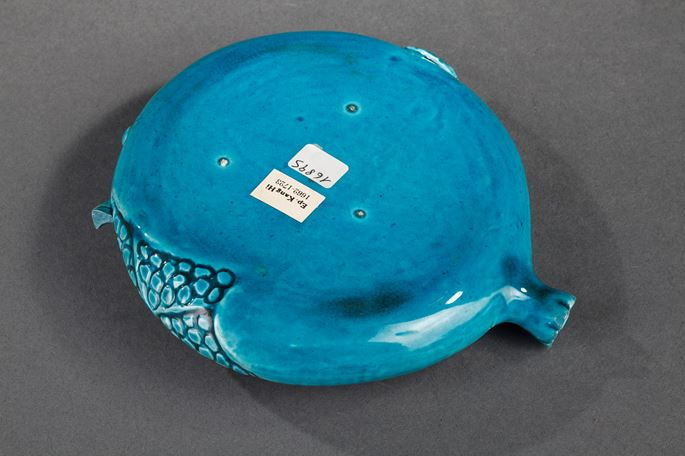 Chinese turquoise enamelled biscuit in the shape of a pomegranate   MasterArt