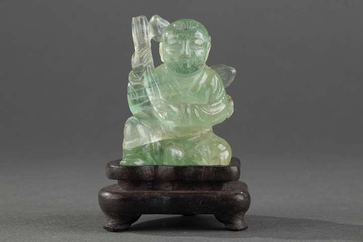 Small figure boy green quartz