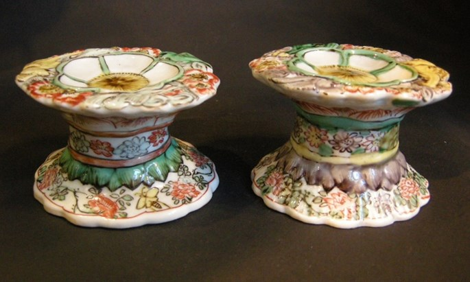 "Pair of salts ""Famille verte"" porcelain - Kangxi period 