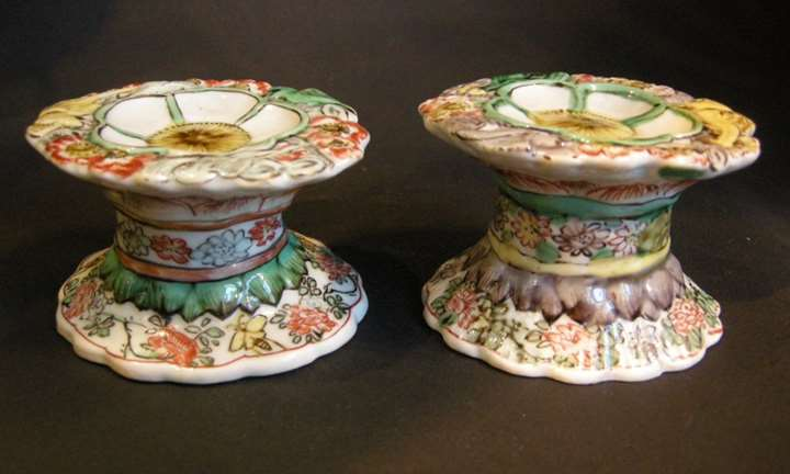 "Pair of salts ""Famille verte"" porcelain - Kangxi period"