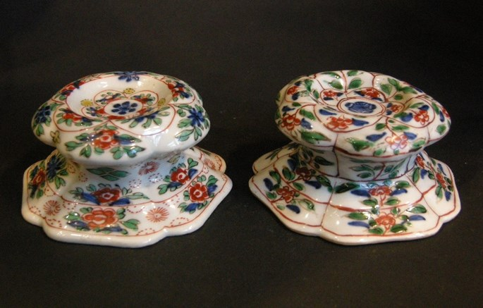 "Pair of salts in ""famille verte"" porcelain - Kangxi period 