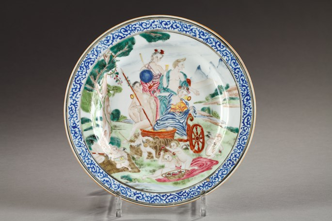 "Plate painted after Francesco Albani  of the serie"" for elements "" emblematic of ""Earth"" 