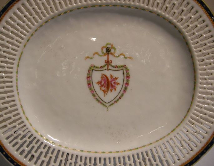 Porcelain dish reticulated with a armorial decoration | MasterArt