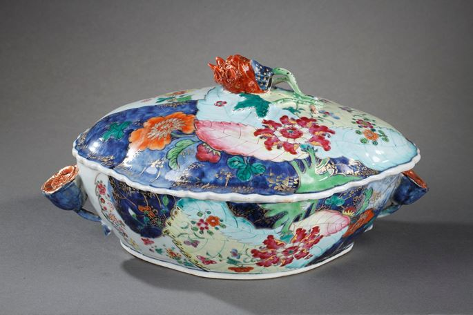 Tureen porcelain tobacco leaves | MasterArt