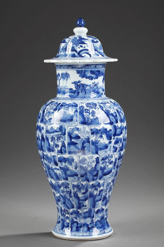 "Vase "" Blue and White"" porcelain  - Kangxi period 