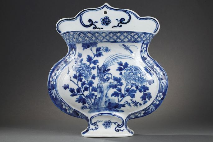 Wall vase Chinese blue and white porcelain | MasterArt